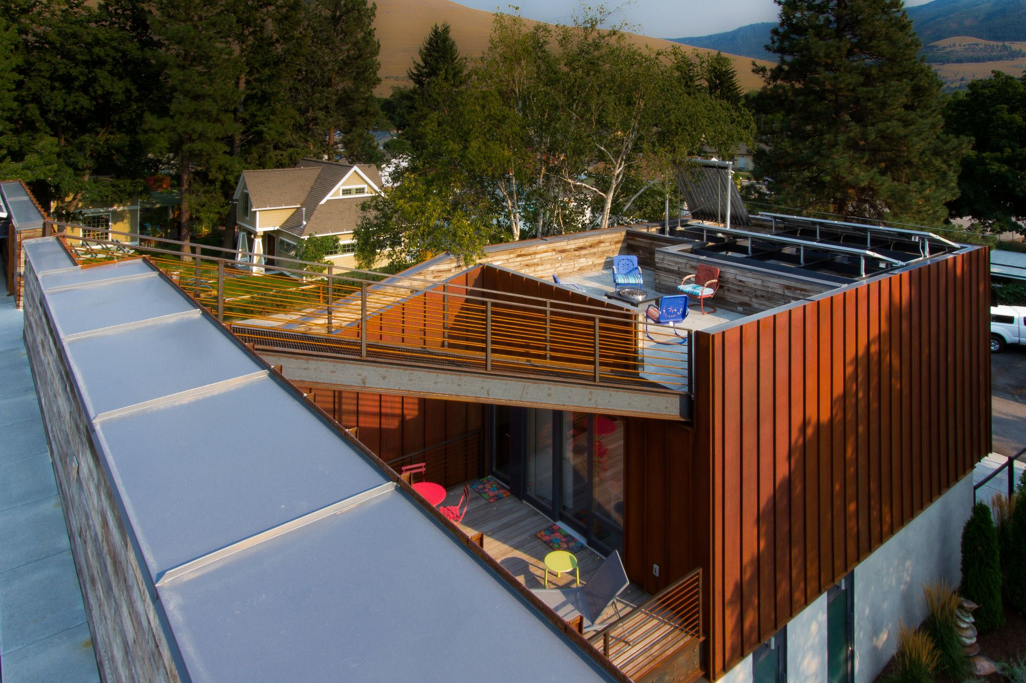 Gallery Of Wren Residence Chris Pardo Design Elemental Architecture 16 Wren House Roof Terrace Design Architecture