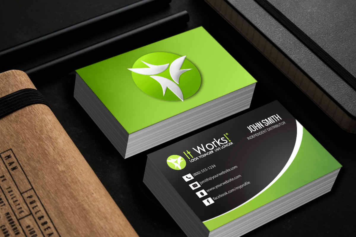 Look At Our New It Works Business Cards Mlm Itworks Hair Nails Keto Natural Print Pa Free Business Cards Printing Business Cards Business Cards