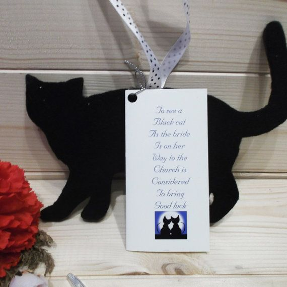 Lucky Wedding Gifts: This Good Luck Favour Of A Lucky Black Cat Is Made From