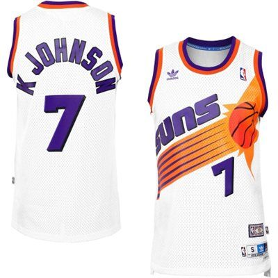 Mens Phoenix Suns Kevin Johnson adidas White Hardwood Classics Swingman  Jersey