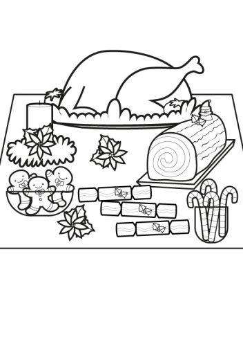 weihnachten weihnachtsessen ausmalen zum ausmalen mit