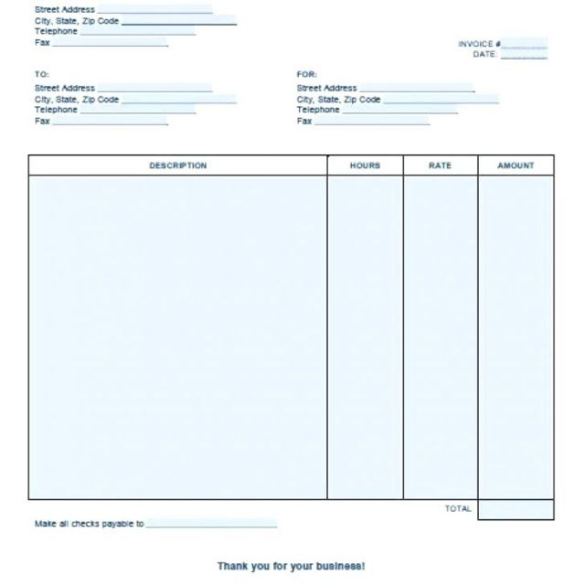 Professional Services Invoice Template Free Download Ms Excel