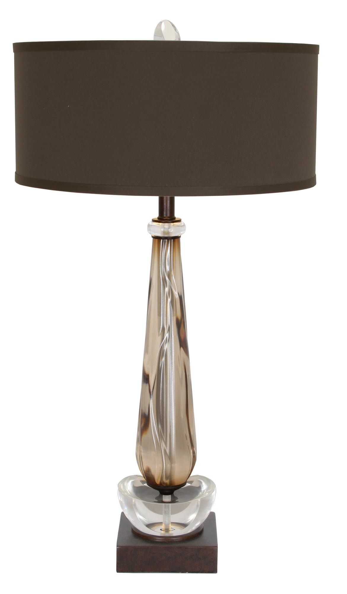"""Walk By Me 32"""" H Table Lamp with Drum Shade"""