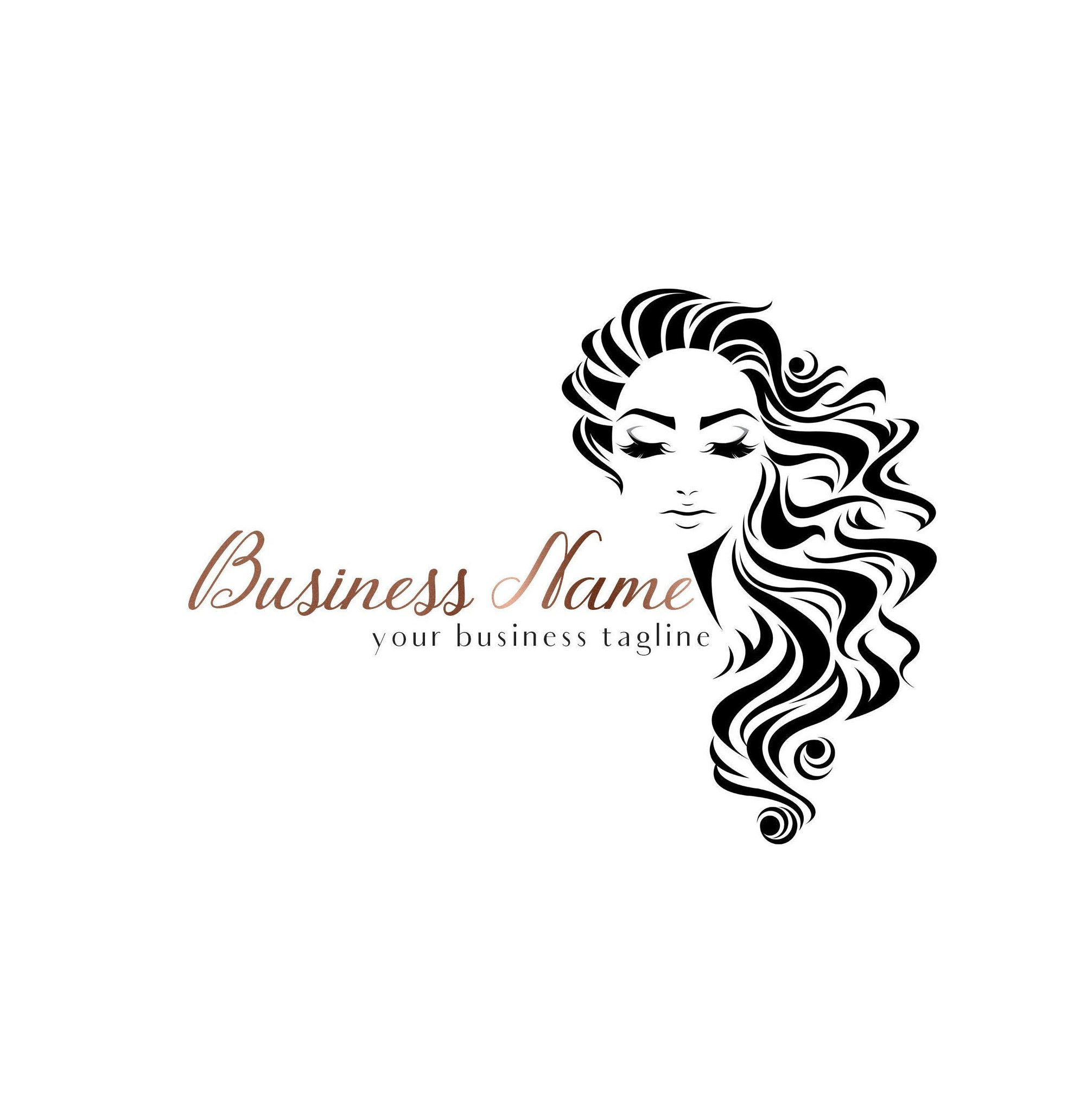 Hair Salon Logo, Hairstylist Logo, Hairdresser Logo, Hair
