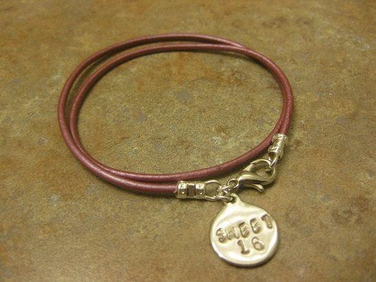 Sweet 16 Six Birthday Gift Stamped Jewelry