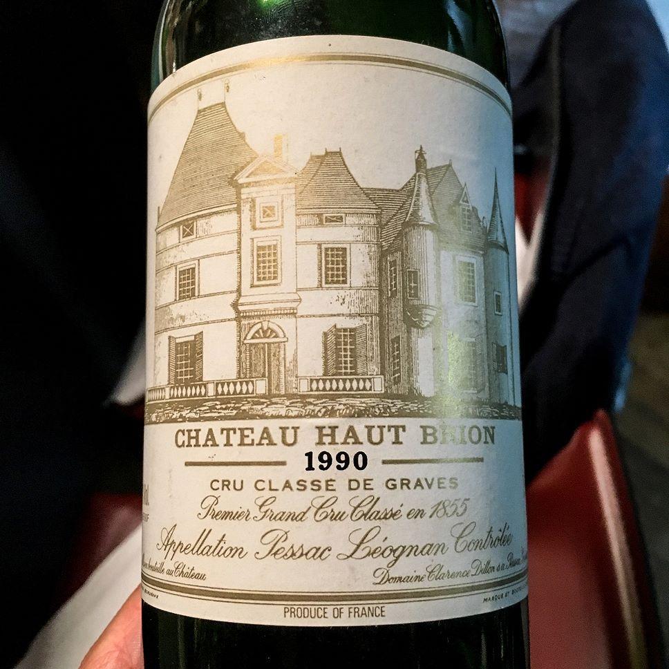 1990 Chateau Haut Brion Pessac Leognan Bordeaux France Price 440