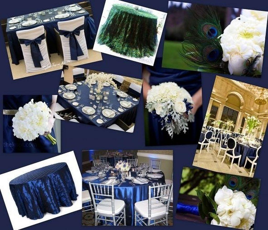 Blue and white wedding decor  Navy blue wedding theme ideas   Blue wedding themes Theme ideas