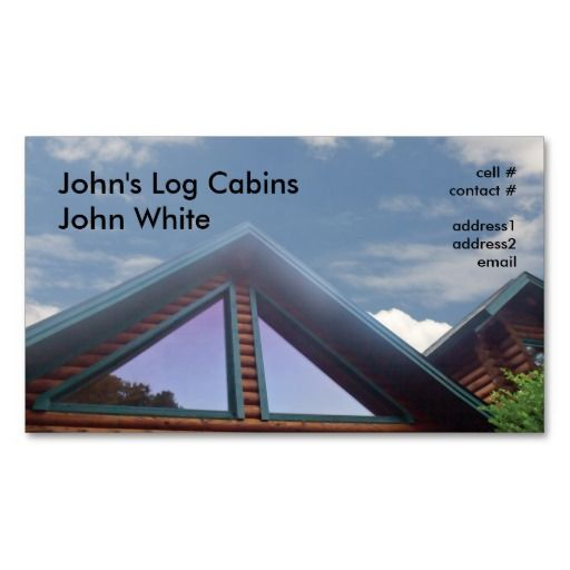 Log Cabin Business Card Templates With Images Log Cabin