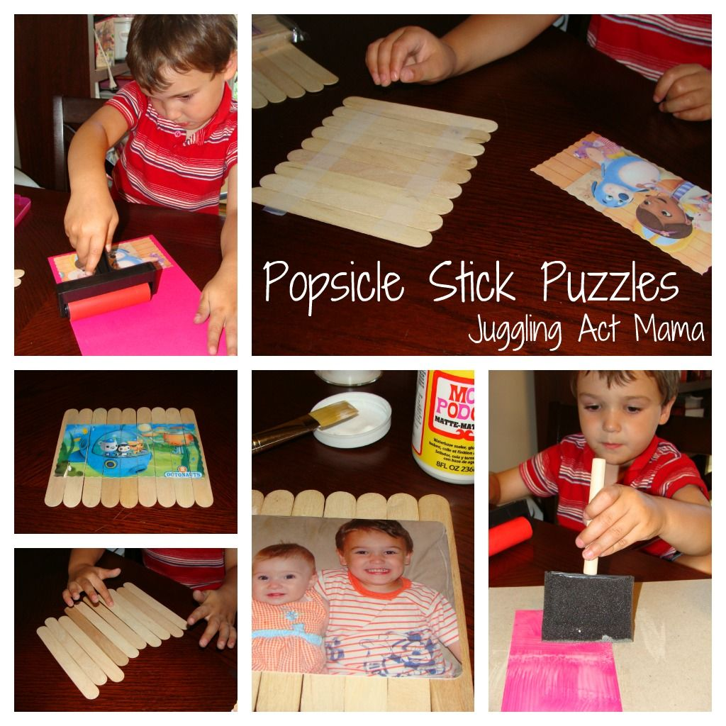 Juggling Act Popsicle Stick Puzzles