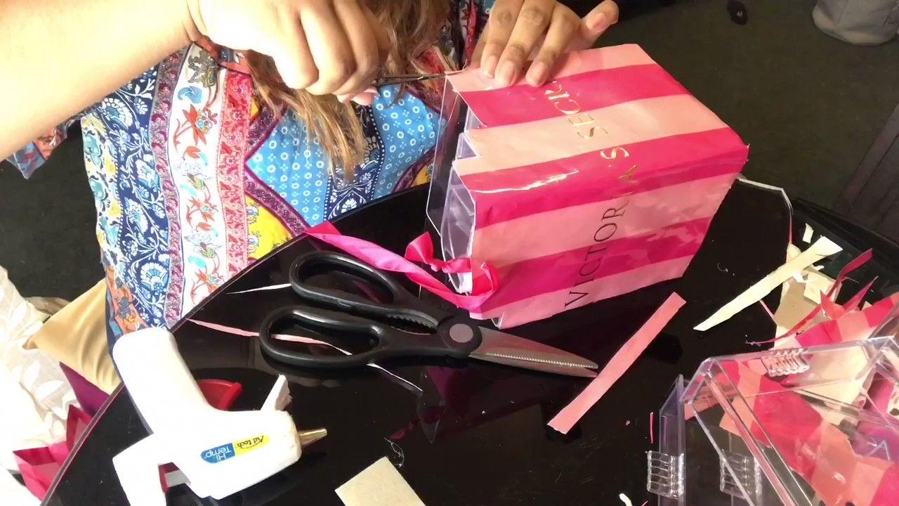 Makeup organizer VICTORIA'S SECRET DIY YouTube Makeup