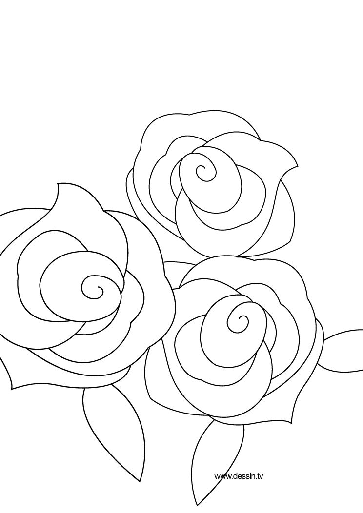 Coloring Rose Rose Coloring Pages Flower Drawing Yarn Painting