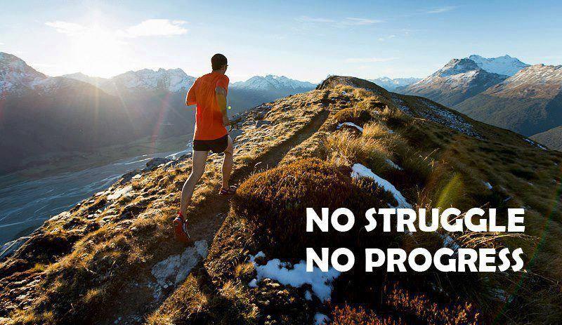 No Struggle, No Progress Running motivation, Fitness