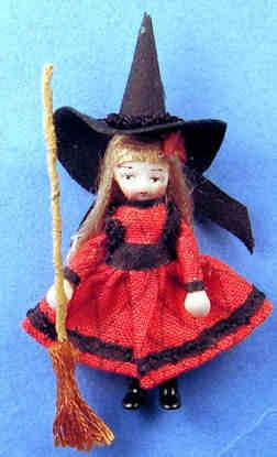 Doll for a doll - Elvira the good witch - $44.00 : S P MINIATURES - hand crafted dollhouse miniatures, S P MINIATURES - shop online for dollhouse miniatures