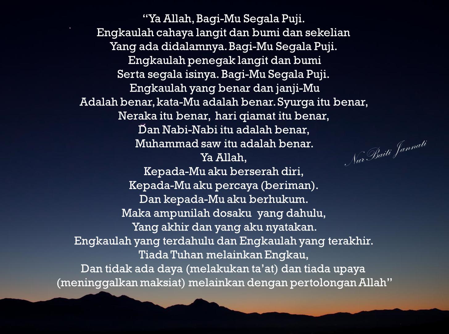 Kata Mutiara Islami Di Malam Hari Mutiara Malam Islam