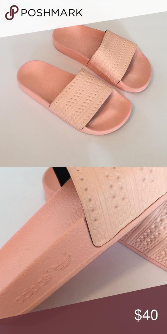 � rosa adidas diapositive, come nuovo pinterest adidas diapositive, rosa