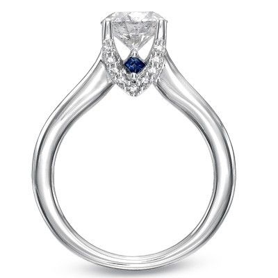 Engagement Ring With A Hidden Sapphire Engagement Ring Buying Guide Engagement Rings Gold Filled Ring