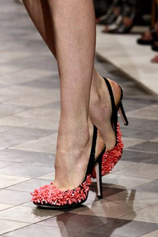 Giambattista Valli, Fall 2011 Couture #coral #shoes #haute_couture #runway