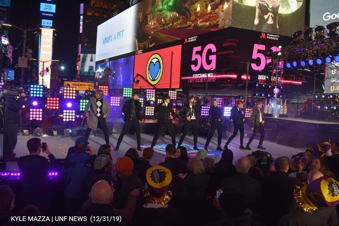 BTS at Times Square New Year's Eve 2020 Up Close (1080p