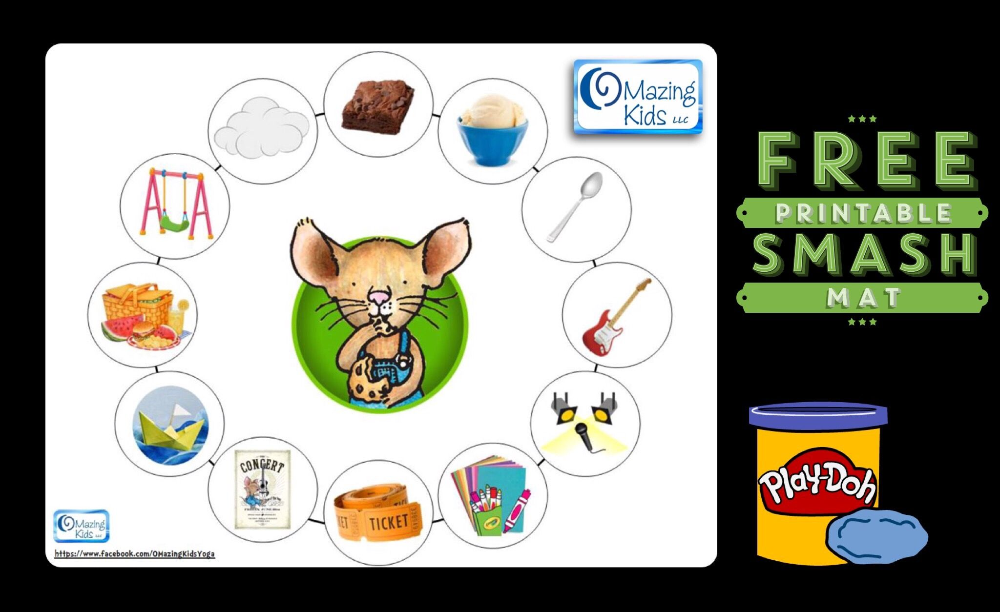 Free Printable If You Give A Mouse A Brownie Playdoh Smash Mat