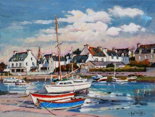 Port de Lesconil, Steir Nibilic | Peinture, Peinture de voilier et Bretagne paysage