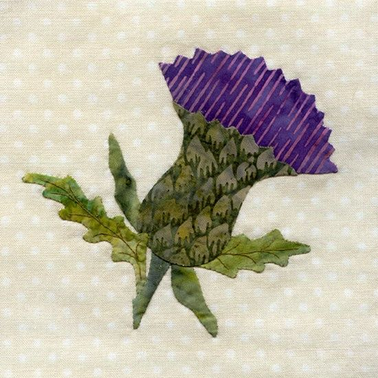 25 Different Wild Flower Quilt Blocks Thistle Quilts