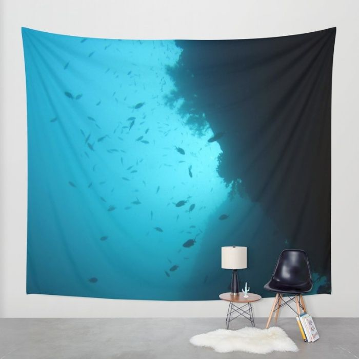 Underwater office tapestry 1. Buy Deep Sea Wall Tapestry by Rachel's Pet Portraits. Worldwide shipping available at Society6.com. Just one of millions of high quality products available.