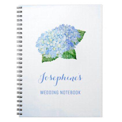 Blue Hydrangea Wedding Planning Notebook