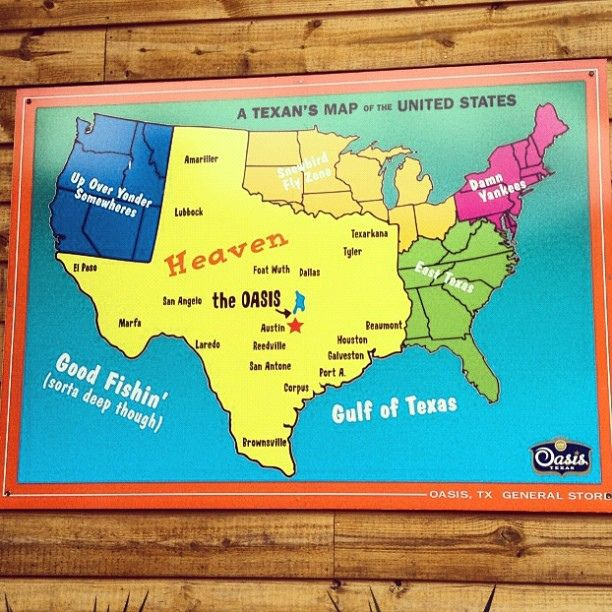 A Texans map of the United States United states Texas and West texas