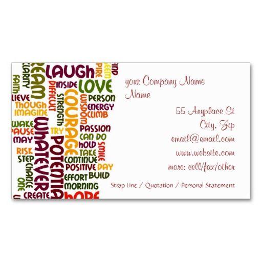 Motivational Words 1 Positive Encouragement Business Card Zazzle Com In 2021 Motivational Words Positive Encouragement Zazzle Business Cards
