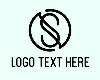 Water Station Letter S Logo Logos Circle Logos Plumbing Logo