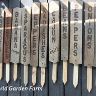 Large Garden signs from pickets