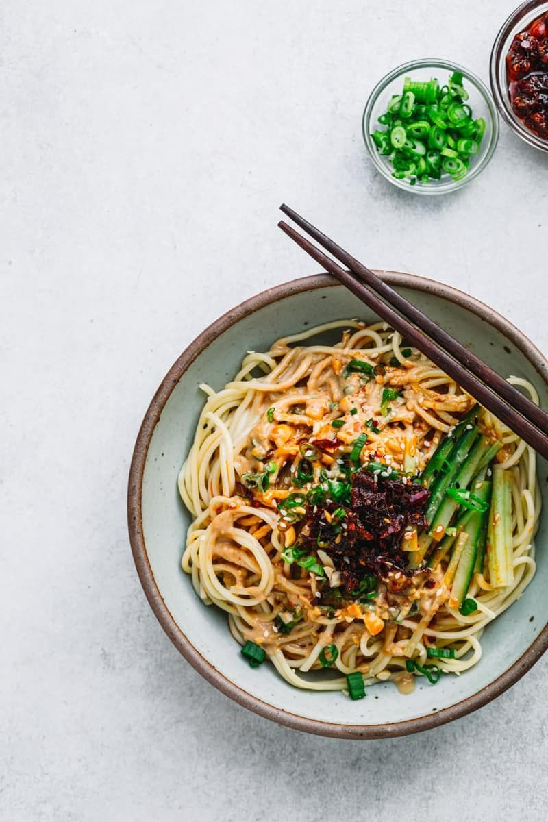 Sesame Noodles Ma Jiang Mian Quick Chinese Recipes Easy Dinner Recipes Sesame Noodles Recipe