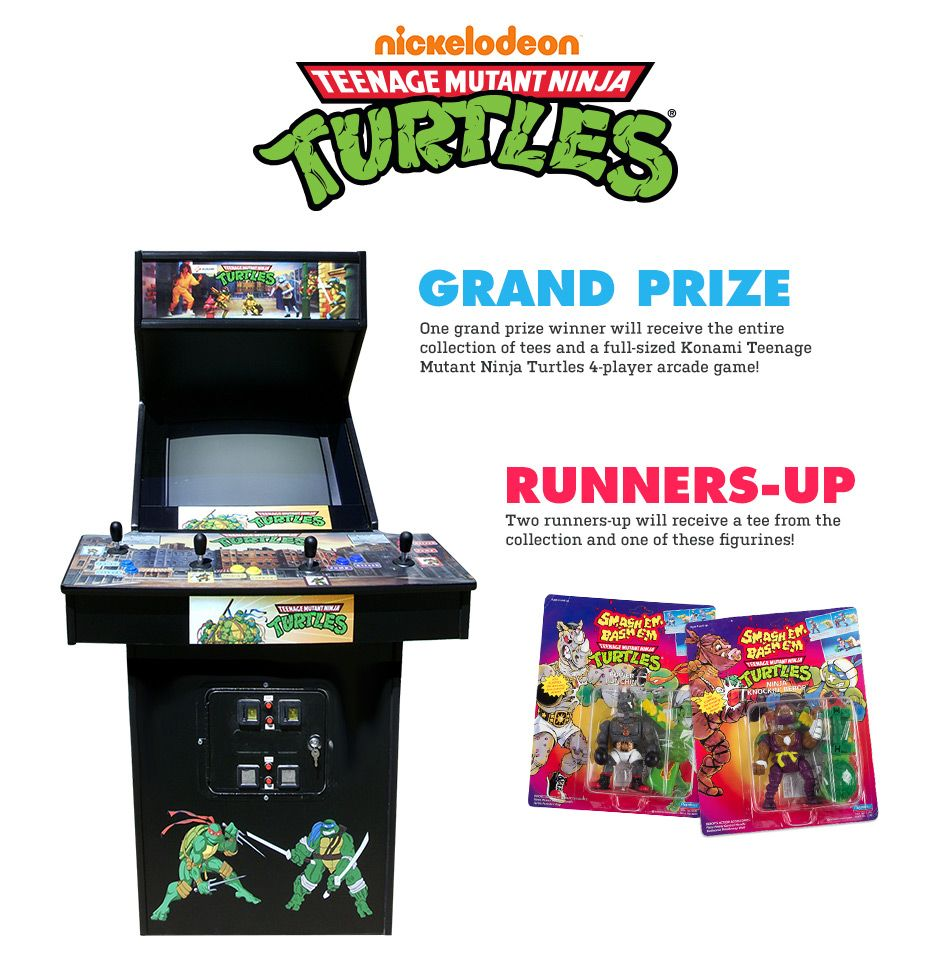 Enter to win the TMNT collection and a full-sized arcade