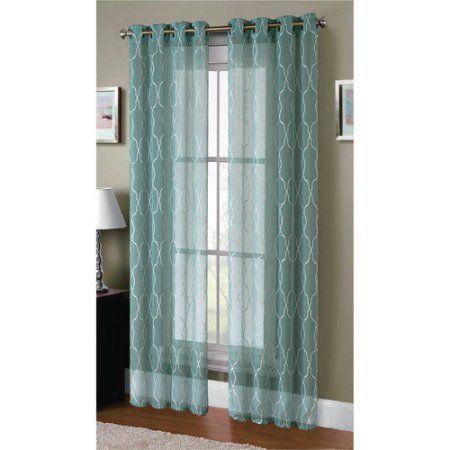 Sheer Elegance Curtain Panel Pairs, Beige