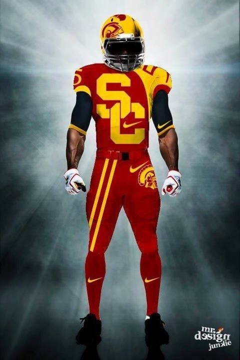 5de5c4fd832 A future uniform concept of one the greatest football program in college  football history. The USC Trojans