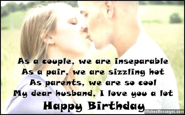 Sweet Birthday Card Message To Husband From Wife Birthdays