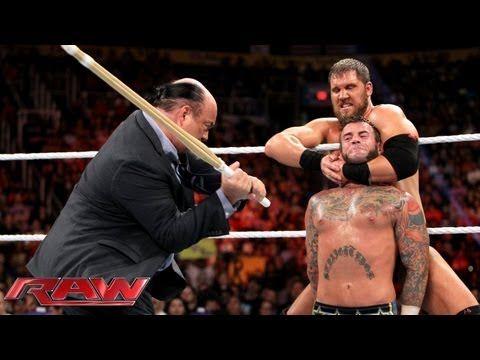 CM Punk vs. Curtis Axel WWE App Vote Match Raw, August