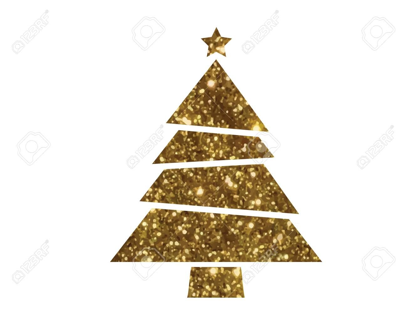 Isolated Vector Golden Glitter Christmas Tree Flat Icon Affiliate Golden Glitter Isolated Vector F In 2020 Glitter Christmas Beauty Website Golden Glitter