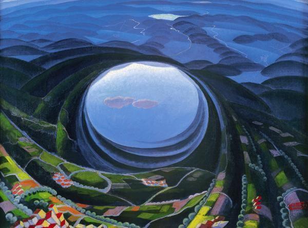 Gerardo Dottori Primavera Umbria 1923 Futurism Art Umbria Italian Futurism