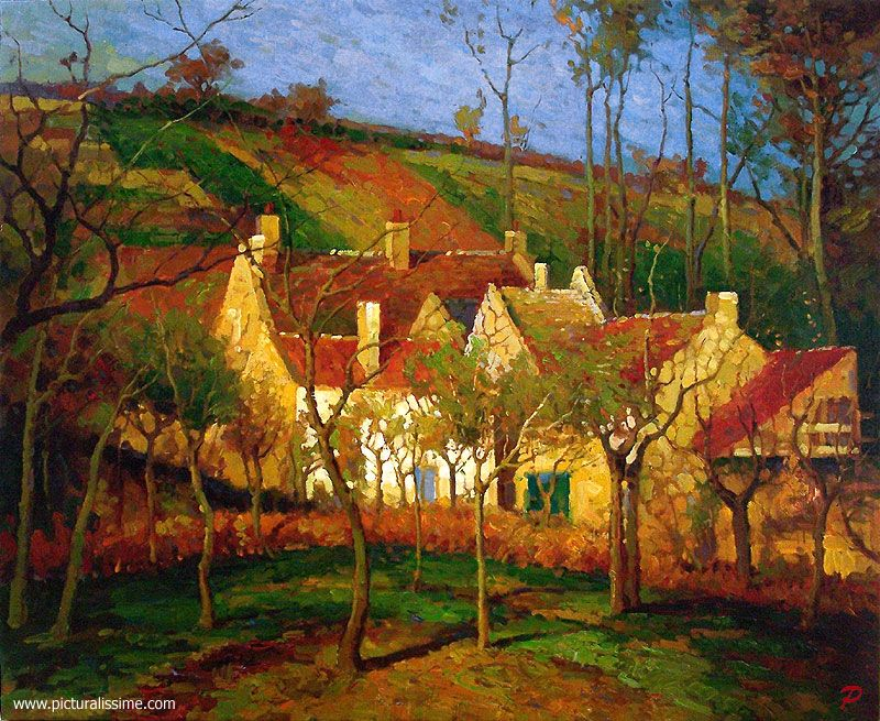 Camille Pissarro Les Toits Rouges Paintings Pinterest