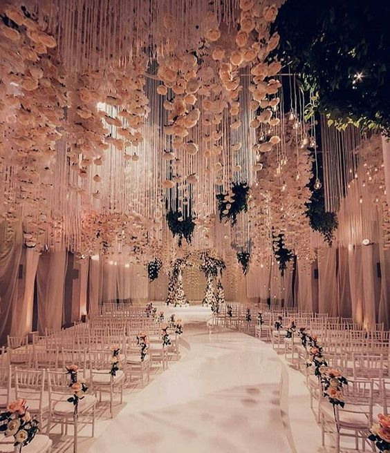 White Luxury Wedding Decor With Wonderful And Beautiful: Beautiful Rose Gold Outside Themed Wedding Decor! Rose