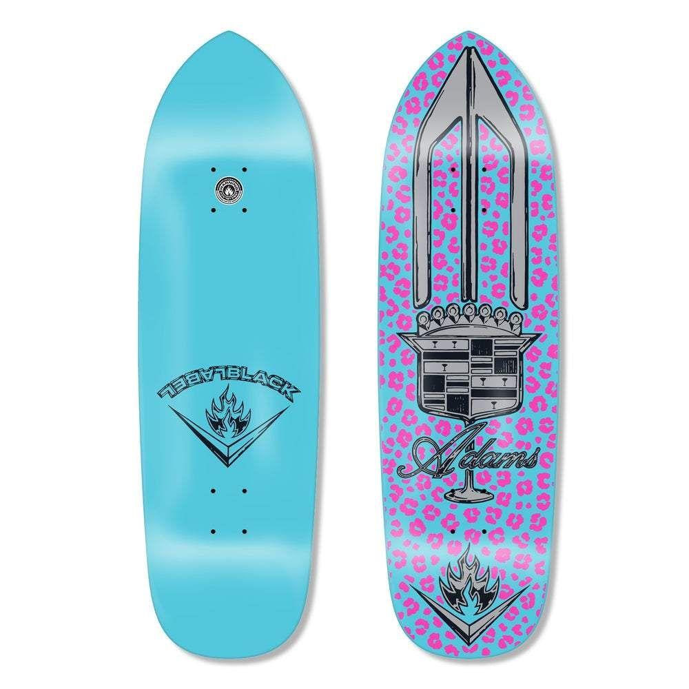 Black Label Jason Adams El Dorado Punk Point Xl Turquoise Dip Skateboard Deck In 2020 Black Label Skateboard Decks Black