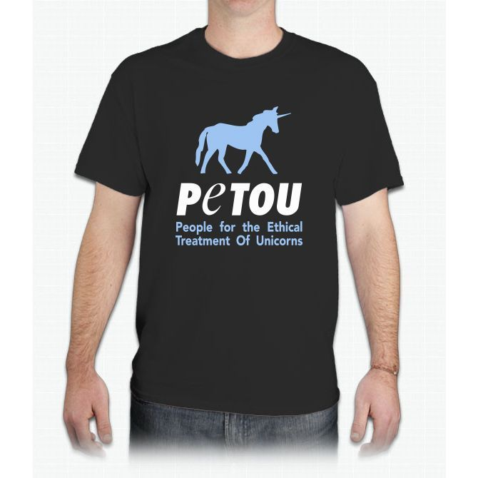 People For The Ethical Treatment Of Unicorns T-shirt - Mens T-Shirt