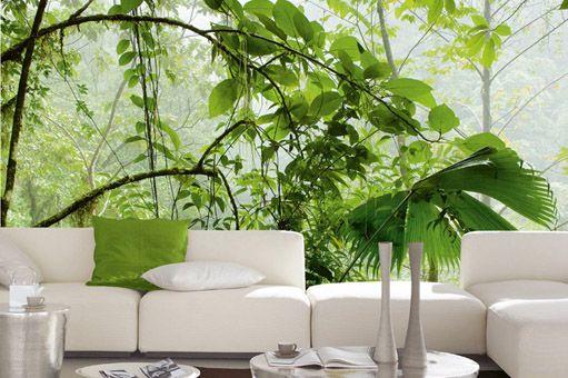 Jungle fotobehang behang pinterest fotobehang for Woonkamer behang voorbeelden