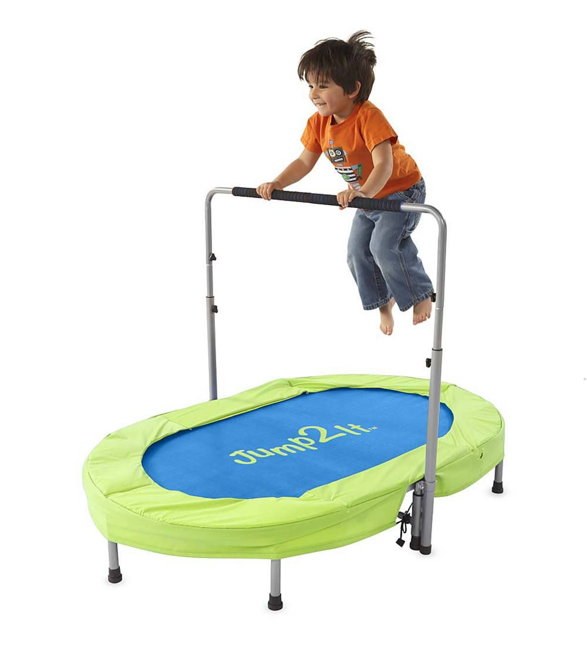Energetic kids adore this trampoline! It's fun for two or