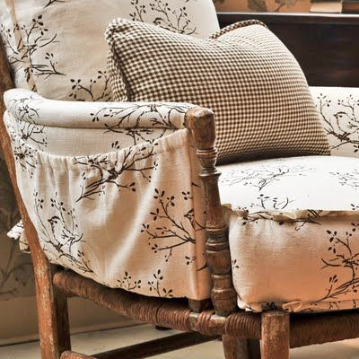 Charles Pollock Chair With Bainbridge Blues Katie Fabric In