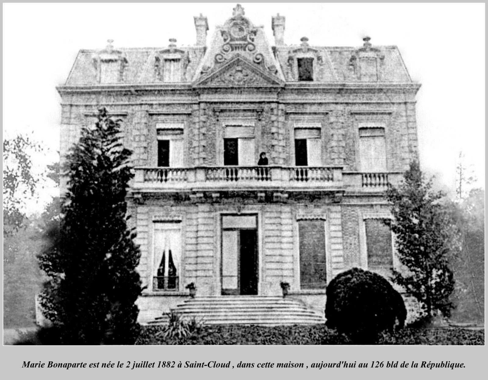 Marie Bonaparte; née le 2 juillet 1882 à Saint-Cloud