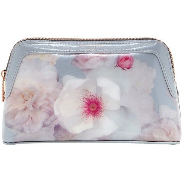 b83230cd84 Ted Baker Chelsea Grey Milless Makeup Bag ($35) ❤ liked on Polyvore  featuring beauty products, beauty accessories, bags & cases, wash bag, ted  baker, ...