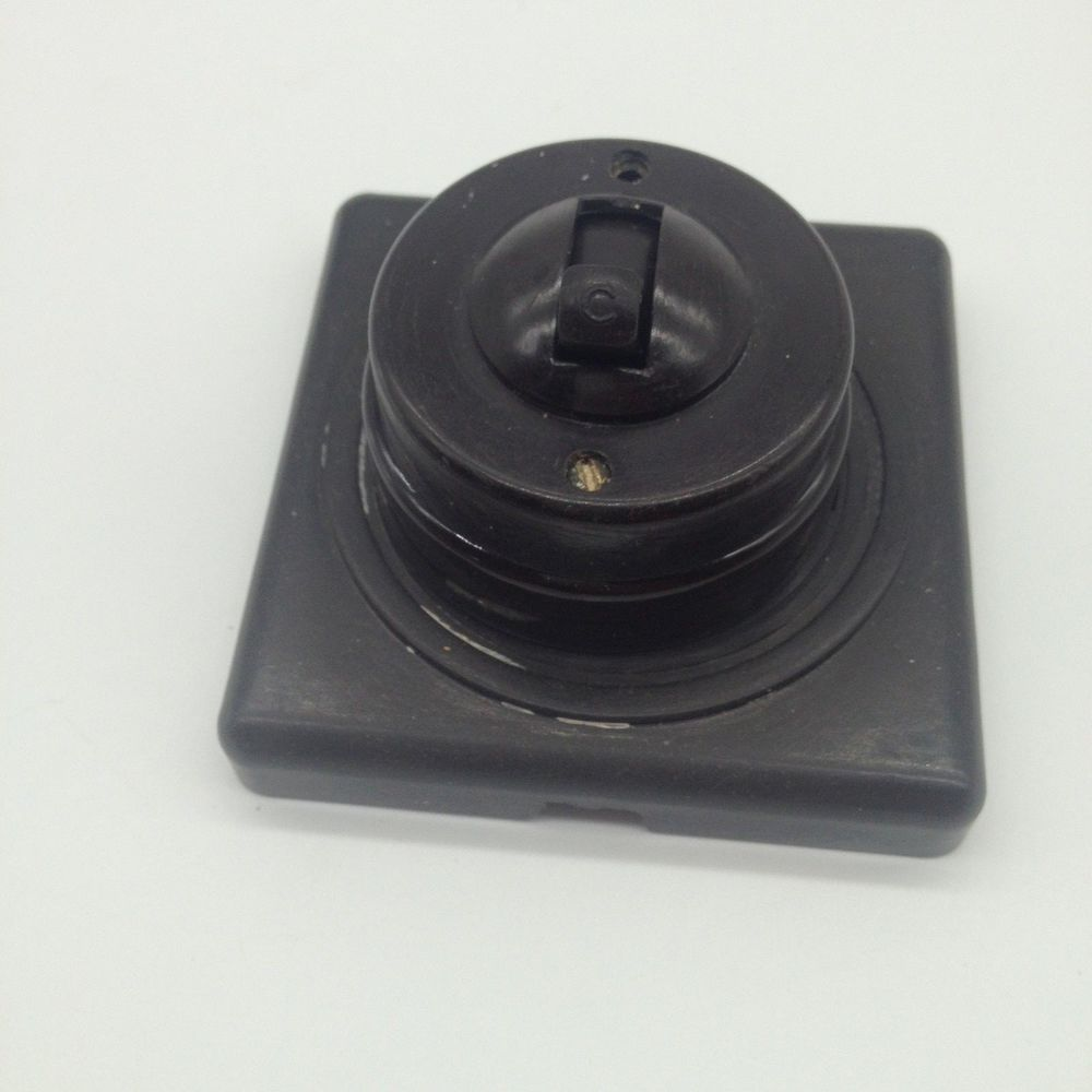 Art deco light toggle switch bakelite with patress brown working ...