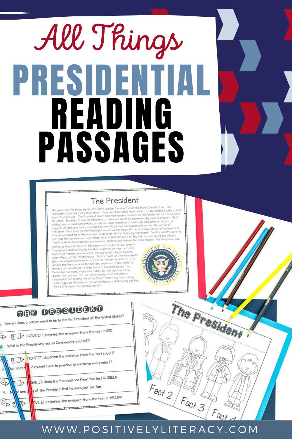 Presidents Nonfiction Reading Passages Reading Passages Nonfiction Reading Passages Elementary Reading Nonfiction reading comprehension social
